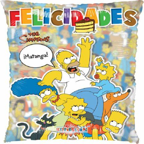 """Globo Metalico Promocion Los Simpsons 20"""" Met"""