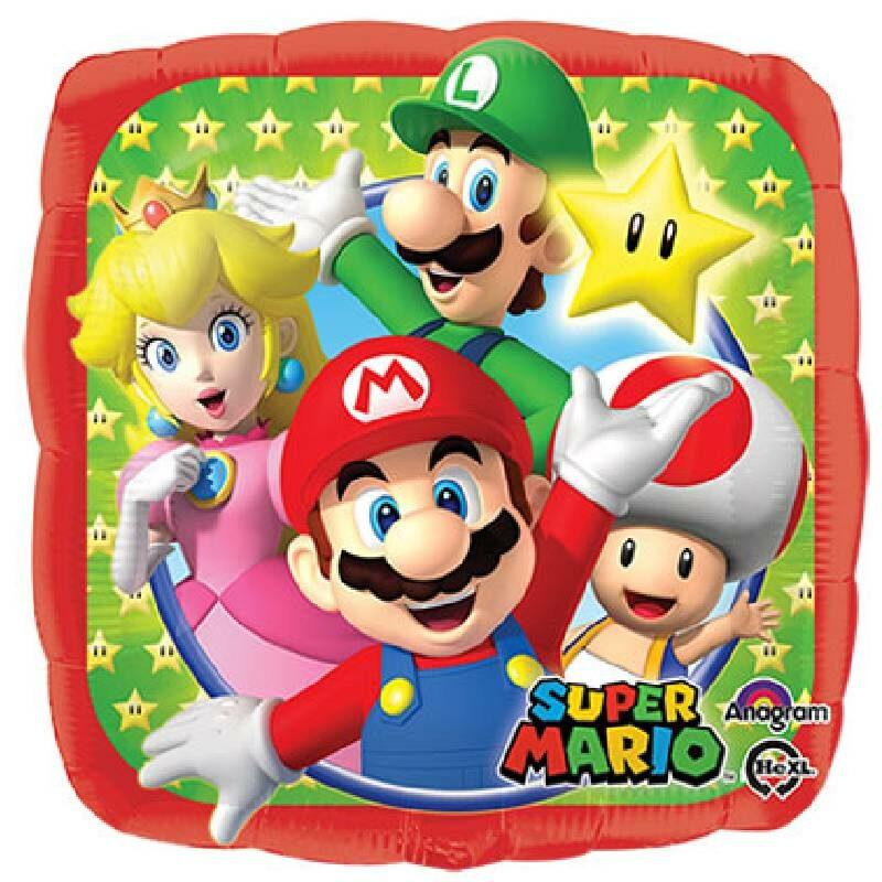 """Globo Metálico Super Mario 09"""""""