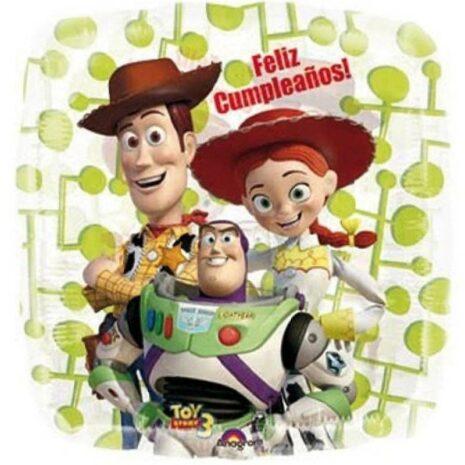 "Globo Metálico Toy Story Feliz Cumpleaños 09"""
