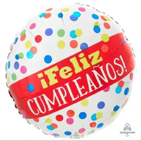 "Globo Metalico 18"" Feliz Cumpleaños"