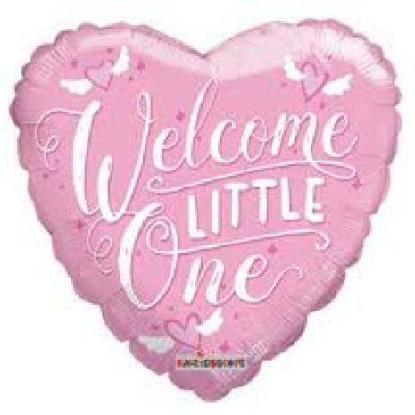 "Globo Metalico Welcome Little One 18"""