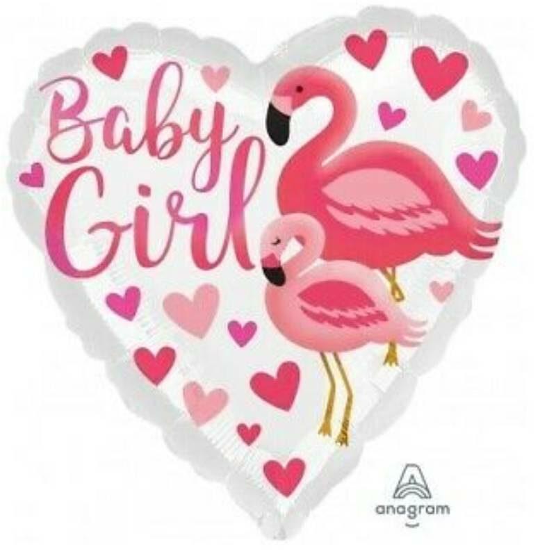 """Globo Metalico Baby Girl 18"""""""