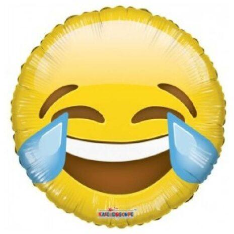 "Globo Metalico Laughing Emoticon 09"""