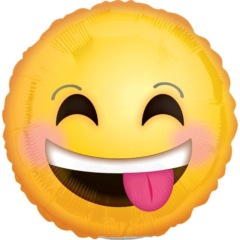"Globo Metalico Smiling Emoticon 09"""