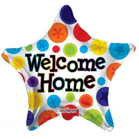 "Globo Metalico 18"" Welcome Home Star"