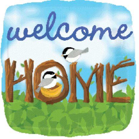 "Globo Metalico 18"" Welcome Home"