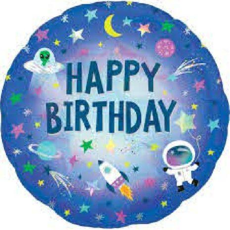 """Globo Metalico Happy birthday 18"""""""