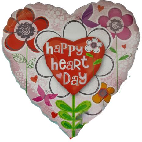 Globo Metalico San Valentin Figura Corazon Rojo, Rosa y Flores Colores 32 Pulgadas
