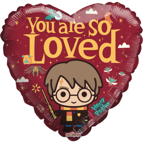 Globo Metalico San Valentin Forma Corazon Harry Potter You Are So Loved Tamaño 18 Pulgadas Material Gellibean