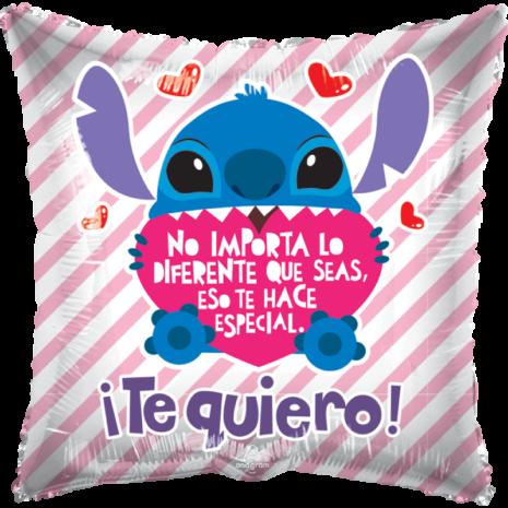 Globo Metalico San Valentin Stitch No importa Lo Diferente Que Seas 18 Pulgadas Material Gellibean