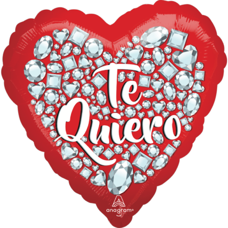 Globo Metalico San Valentin Te quiero 18 Pulgadas Material Metalico