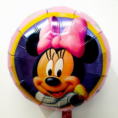 Globo Metalico Minnie Mouse Retrato Sonriendo, 18 Pulgadas en Forma Circular, Marca Anagram