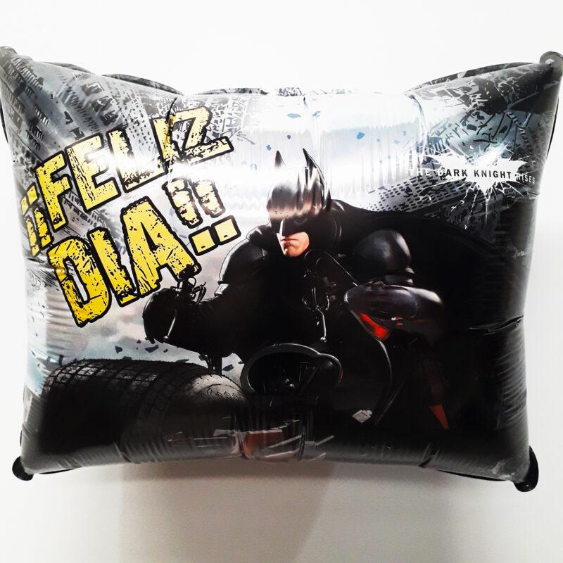 Globo Metalico Batman deseandote Feliz Dia de Cumpleaños, 20 Pulgadas en Forma Rectangular, Marca Kaleidoscope