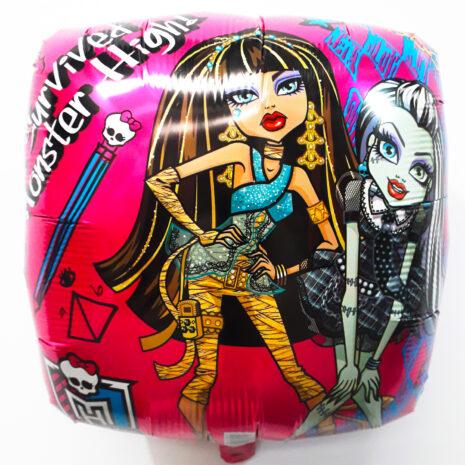 Globo Metalico Monster High Survived de Cumpleaños, 18 Pulgadas en Forma Cuadrada, Marca Anagram
