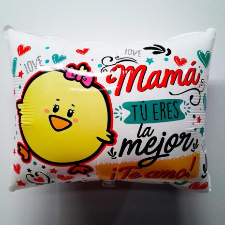 Globo Metalico Mama Tu Eres La Mejor Te Amo, 20 Pulgadas en Forma Rectangular, Acabado Gellibeans, Marca Kaleidoscope