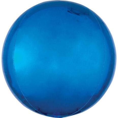Globo Metalico Orb Azul Royal de Cumpleaños, 15 Pulgadas en Forma Circular, Marca Anagram