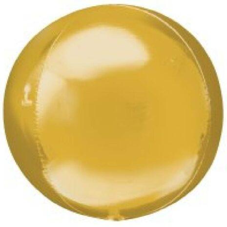 Globo Metalico Orbz Oro de Cumpleaños, 15 Pulgadas en Forma Circular, Marca Anagram