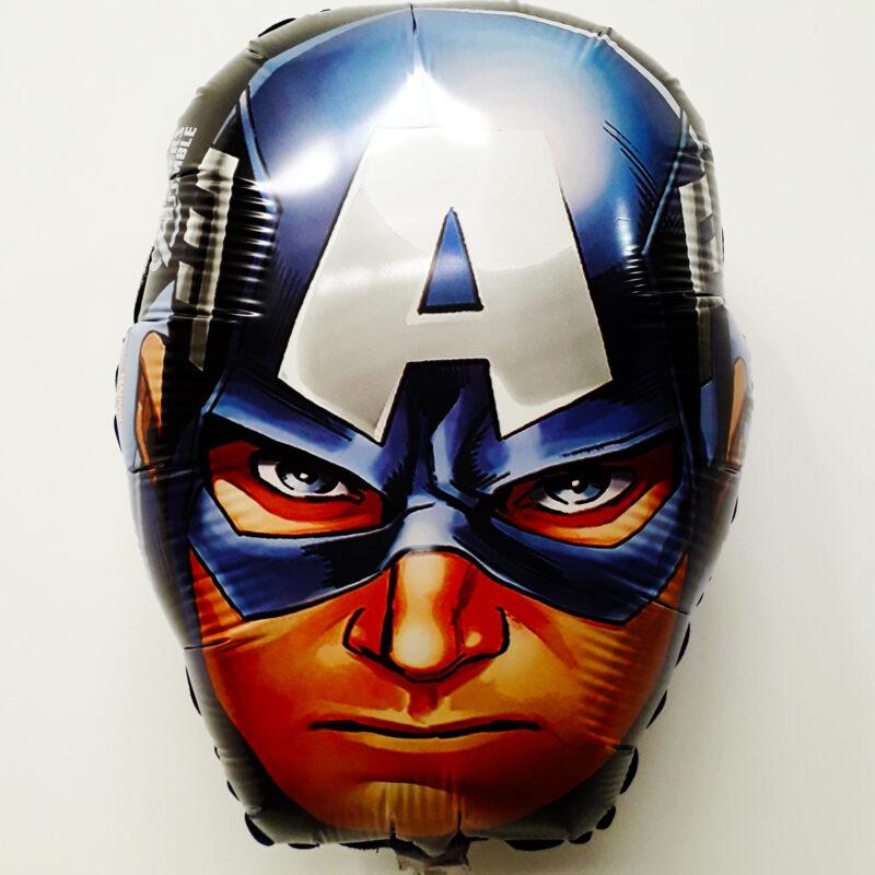 Globo Metalico Capitan America Avengers Marvel de Cumpleaños, 18 Pulgadas en Forma de Silueta, Marca Anagram