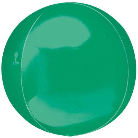 Globo Metalico Orbz Verde Bandera de Cumpleaños, 15 Pulgadas en Forma Circular, Marca Anagram