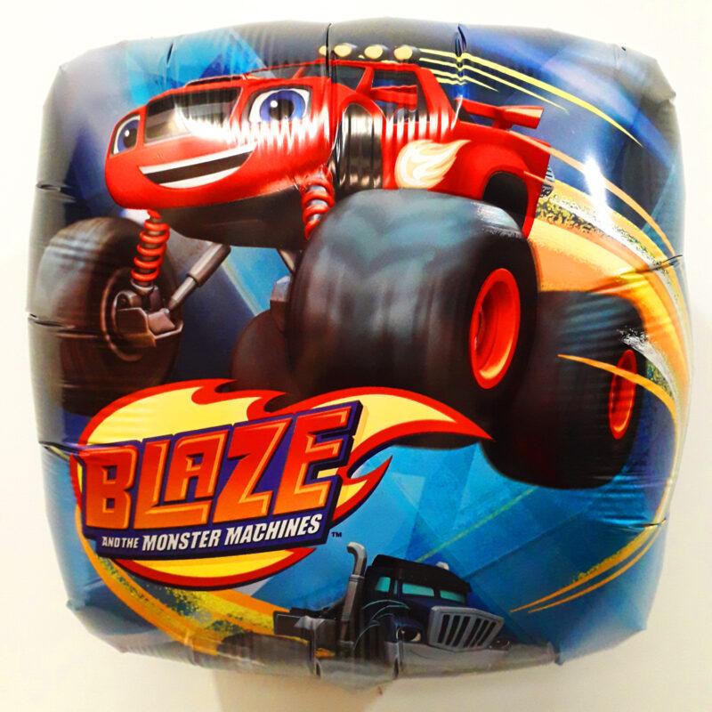 Globo Metalico Blaze Monster Machine, 18 Pulgadas en Forma Cuadrada, Marca Anagram