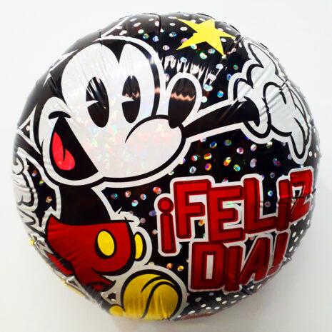 Globo Metalico Mickey Mouse Hoy Es la Pachanga Feliz Dia de Cumpleaños, 18 Pulgadas en Forma Circular, Acabado Holografico, Marca Anagram