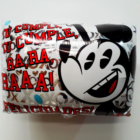 Globo Metalico Mickey Mouse Sonriendo Tu Cumple, 20 Pulgadas en Forma Rectangular, Marca Anagram