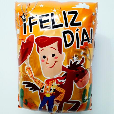 Globo Metalico Toy Story Woody y Tiro al Blanco Feliz Dia de Cumpleaños, 18 Pulgadas en Forma Rectangular, Marca Anagram