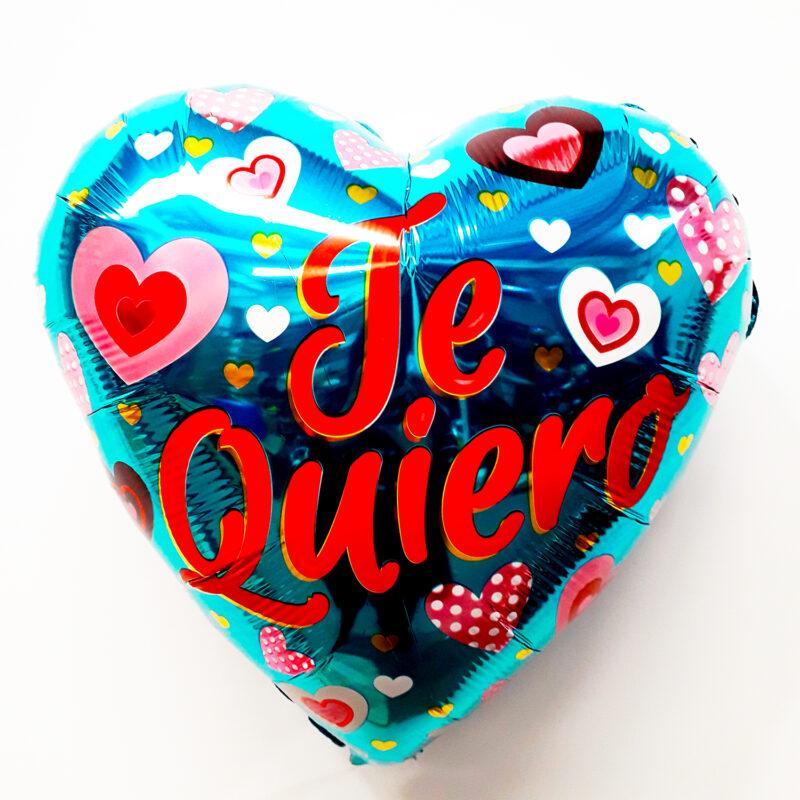Globo Metalico Te quiero con Corazones bicolor de Mama, 18 Pulgadas en Forma de Corazon, Marca Kaleidoscope