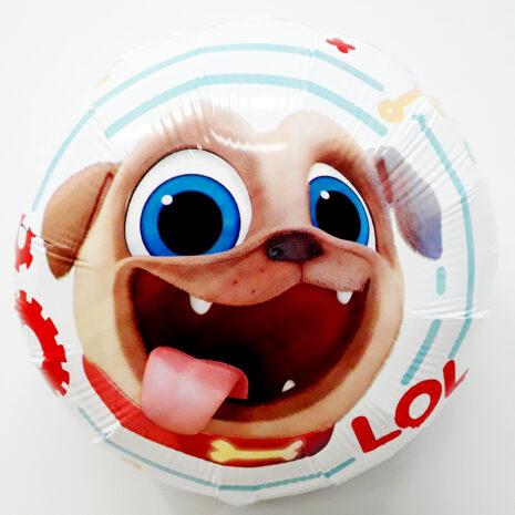 Globo Metalico Puppy Dog Pals LOL de Cumpleaños, 18 Pulgadas en Forma Circular, Marca Anagram