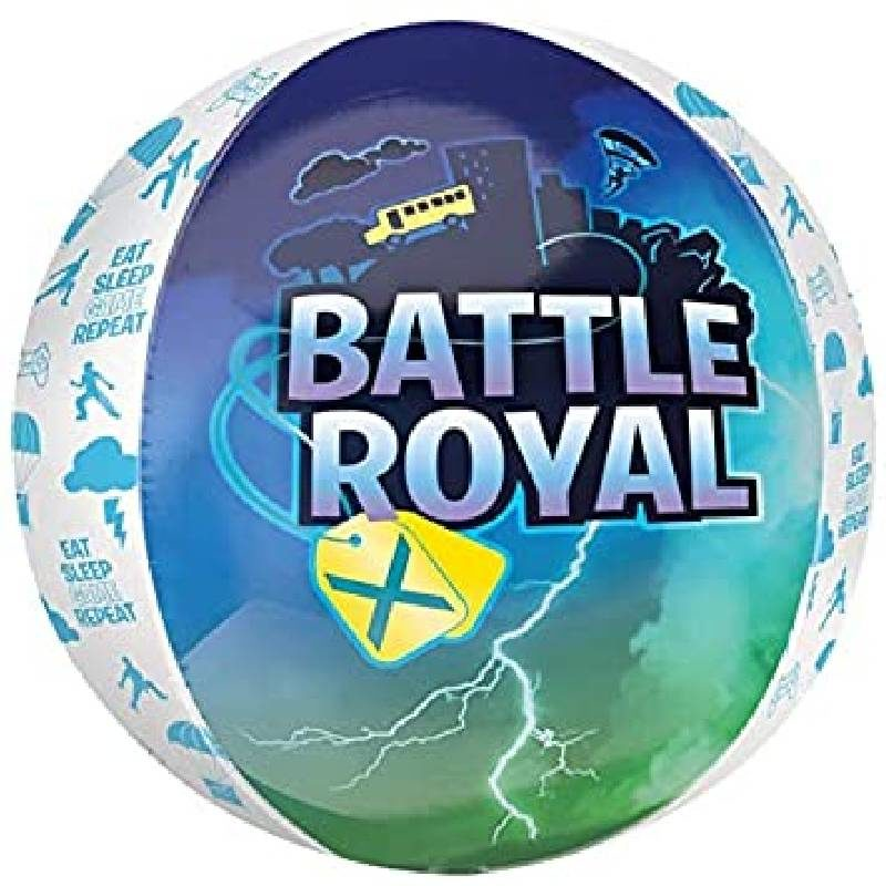 Globo Metalico Orbz Battle Royal Fortnite de Cumpleaños, 15 Pulgadas en Forma Circular, Marca Anagram
