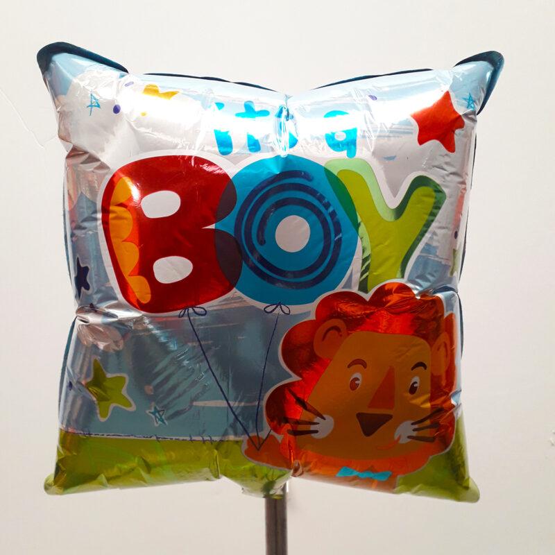 Globo Metalico Its a Boy Safari Leon de Baby Shower, 18 Pulgadas en Forma de Cuadrado, Marca Kaleidoscope