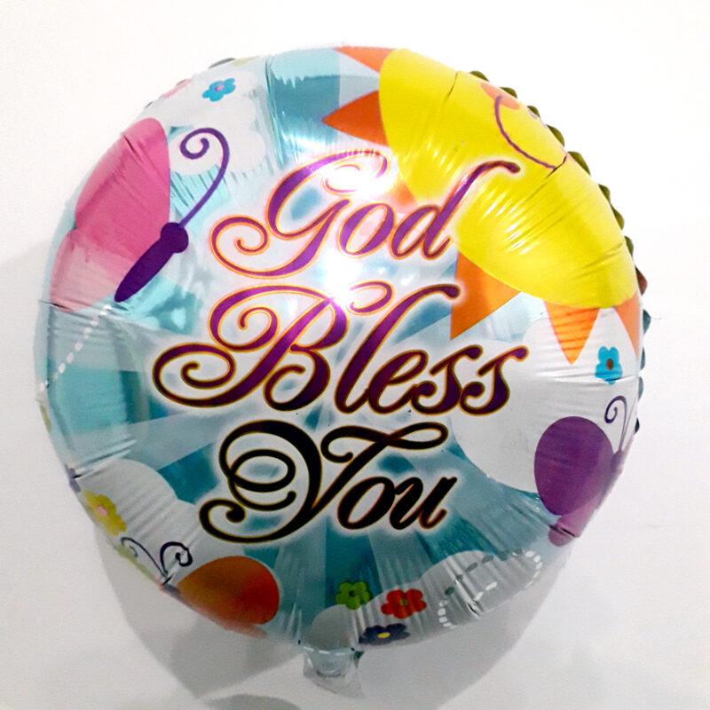 Globo Metalico Good Bless You Magia Primavera de Aliviate Pronto, 18 Pulgadas en Forma Circular, Marca Kaleidoscope