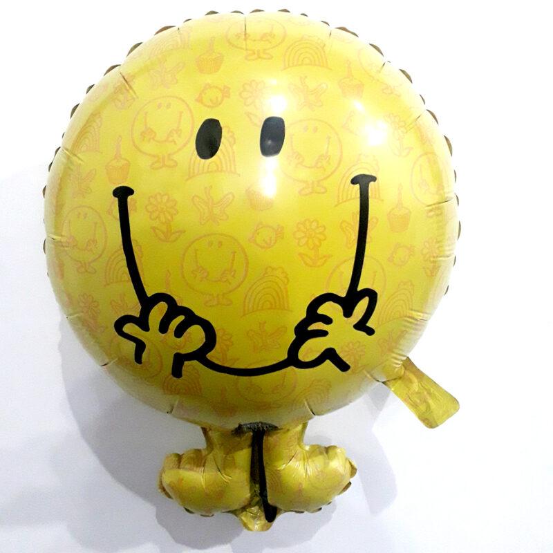 Globo Metalico Mr Happy Magia Amarilla de Cumpleaños, 22 Pulgadas en Forma de Silueta, Marca Kaleidoscope