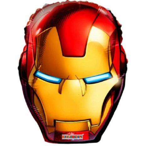 Globo Metalico Iron Man de Cumpleaños, 18 Pulgadas en Forma de Silueta, Marca Kaleidoscope