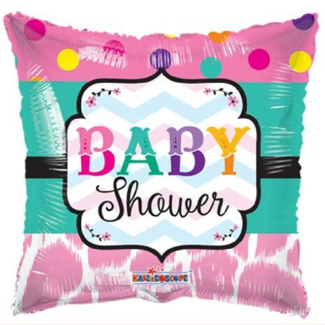 Globo Metalico Baby Shower Magia Fiusha Party de Baby Shower, 18 Pulgadas en Forma de Cuadrado, Acabado Gellibeans, Marca Kaleidoscope