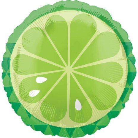 Globo Metalico Limon de Primavera & Verano, 18 Pulgadas en Forma Circular, Marca Anagram