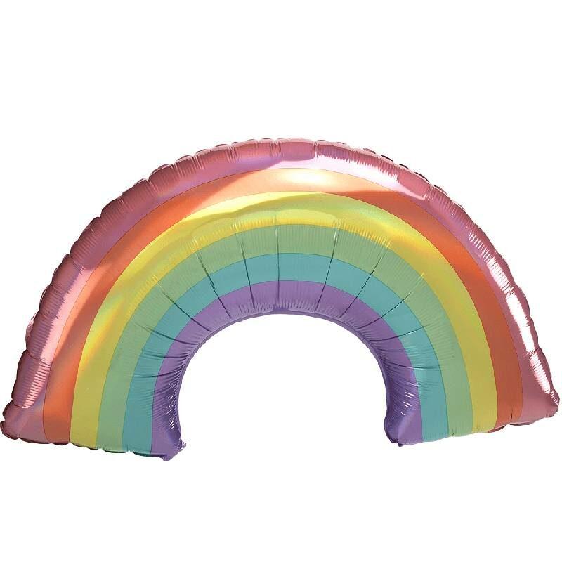 Globo Metalico Arcoiris Multicolor de Primavera & Verano, 36 Pulgadas en Forma de Arcoiris, Marca Anagram