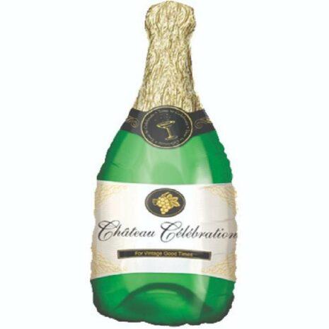 Globo Metalico Botella For Vintage Good Times de Cumpleaños, 36 Pulgadas en Forma de Botella, Marca Kaleidoscope