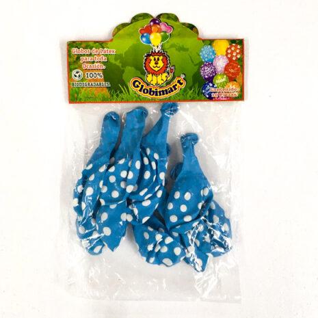 Globo de Latex Solido Decorativo, #12 Forma Redondo, Bolsa con 10 Piezas, 100 % Biodegradable, Marca Globimart