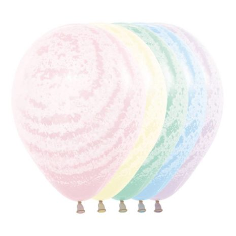 Globo de Latex Solido Decorativo Pastel Mate Surtido, #R-12 Forma Redondo, Bolsa con 50 Piezas, 100 % Biodegradable, Marca Sempertex