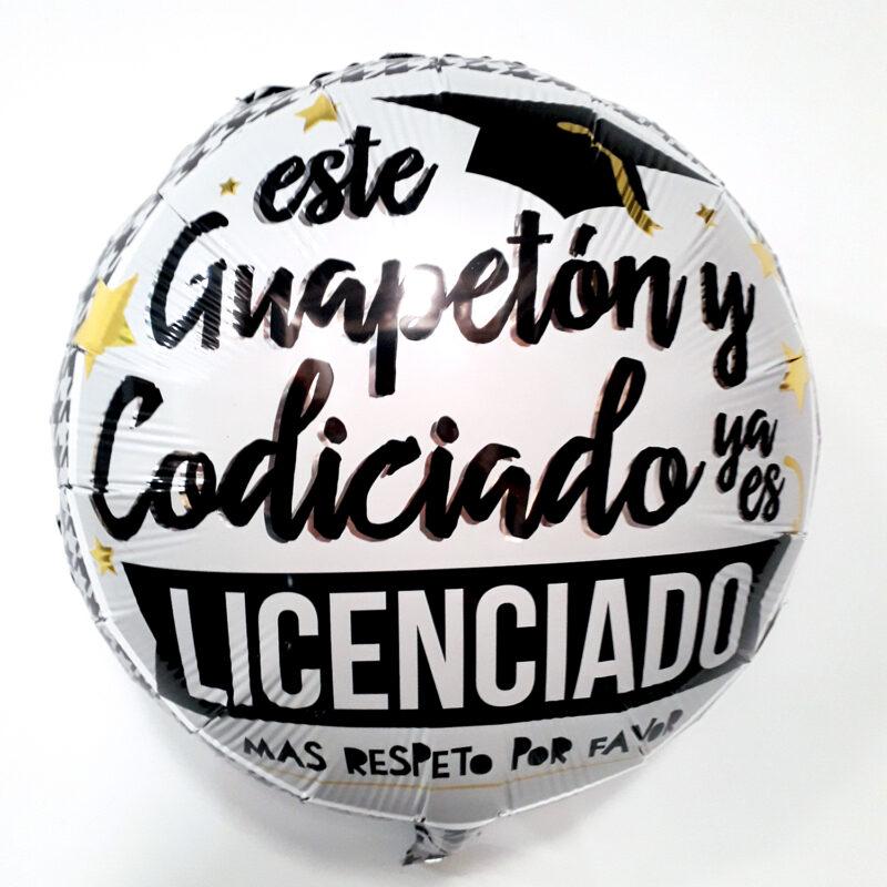 Globo Metalico Este Guapeton y Codiciado Ya Es Un Licenciado de Graduacion, 18 Pulgadas en Forma de Circulo, Marca Kaleidoscope