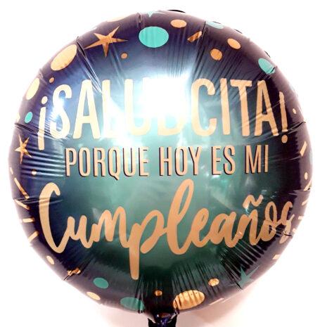 Globo Metalico Saludcita Por Que Hoy Es Mi Cumpleaños de Cumpleaños, 18 Pulgadas en Forma de Circulo, Marca Kaleidoscope