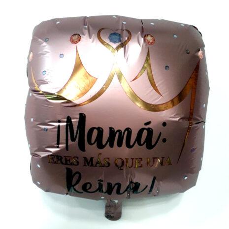Globo Metalico Mama Eres Mas Que Una Reyna Magia Rose Gold de Mama, 18 Pulgadas en Forma de Cuadrado, Acabado Satinado, Marca Anagram