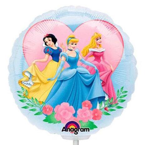 Globo Metalico Princesa Aurora y sus Amigas de Personaje, 09 Pulgadas en Forma de Circulo, Marca Anagram