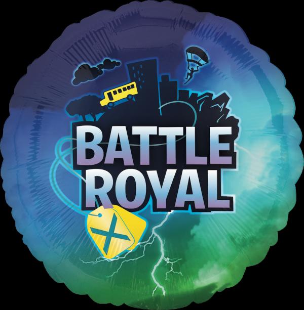 Globo Metalico Battle Royal de Cumpleaños, 18 Pulgadas en Forma de Circulo, Marca Anagram