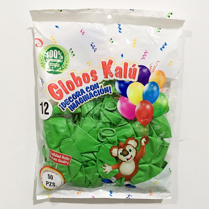 Globo de Latex Solido Decorativo, #12 Pulgadas Forma Redondo, Bolsa con 100 Piezas, 100 % Biodegradable, Marca Sensacional