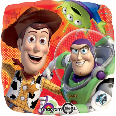 Globo Metalico Woody y Buzz de Toy Story de Personaje, 09 Pulgadas en Forma de Cuadrado, Marca Anagram