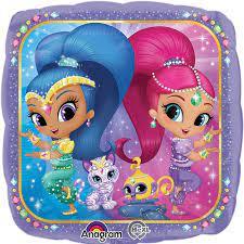 Globo Metalico Shimer Shine Magia Rosa de Cumpleaños, 18 Pulgadas en Forma de Cuadrado, Marca Kaleidoscope