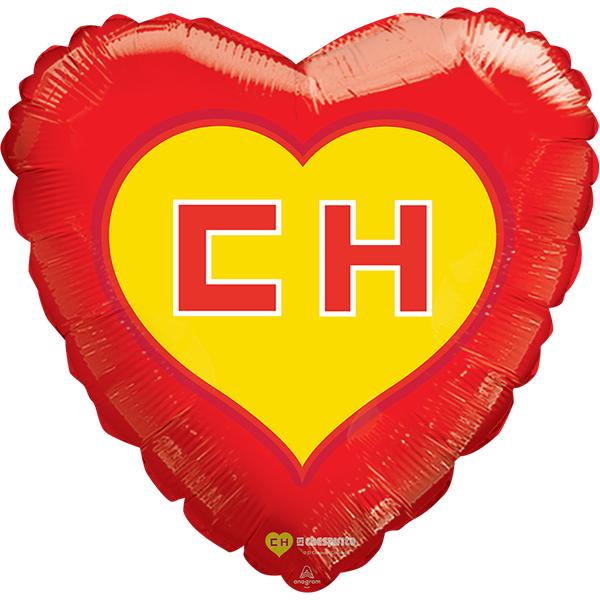 Globo Metalico Chespirito Magia Escudo de Cumpleaños, 18 Pulgadas en Forma de Corazon, Marca Anagram