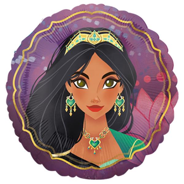 Globo Metalico Aladdin Magia Unica de Vuelo de Cumpleaños, 18 Pulgadas en Forma de Circulo, Marca Anagram